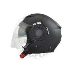 Κράνος STR Tron Χρώμα Μαύρο Ματ