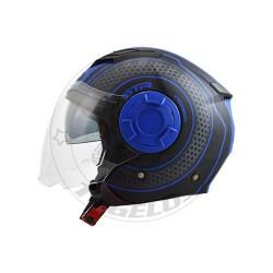 Κράνος STR Tron Χρώμα Μαύρο-Μπλε Ματ