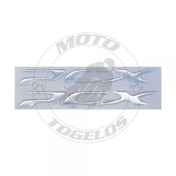 Αυτοκόλλητο Ανάγλυφο PCX Χρώμα Ασημί