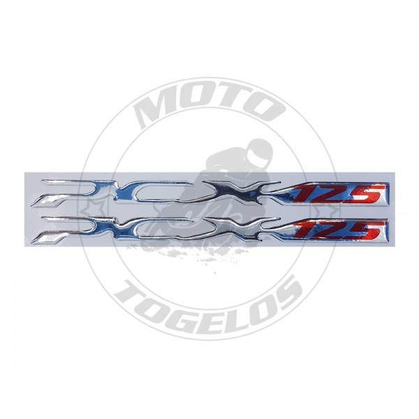 Αυτοκόλλητο Ανάγλυφο PCX 125 Χρώμα Ασημί