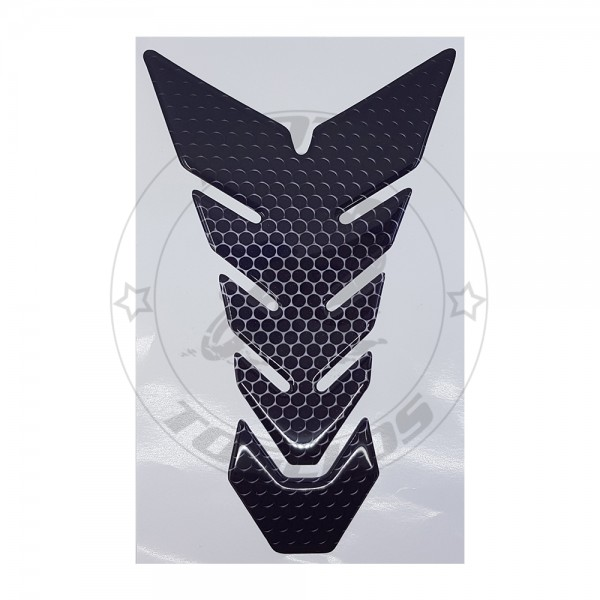 Αυτοκόλλητο Προστατευτικό Ρεζερβουάρ Χρώμα Μαύρο-Ασημί