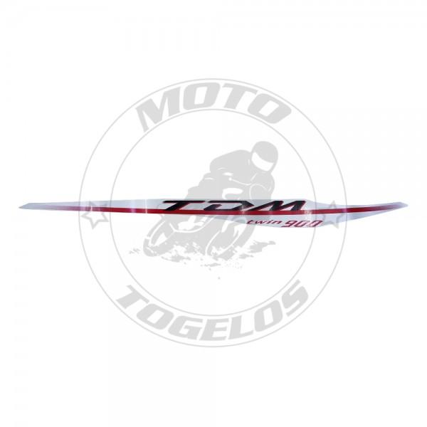 Αυτοκόλλητο TDM 900 Λευκό Κόκκινο Γνήσιο Yamaha 5PS-28392-C0