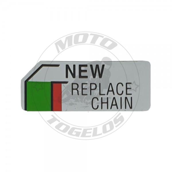 Αυτοκόλλητο New Replace Chain Γνήσιο Honda 87508-MN8-670