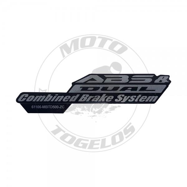 Αυτοκόλλητο ABS Γνήσιο Honda 61106-MBT-D50ZC