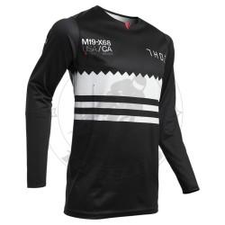 Μπλούζα Thor S20 Prime Pro Baddy Χρώμα Μαύρο/Άσπρο/Κόκκινο Μέγεθος XL