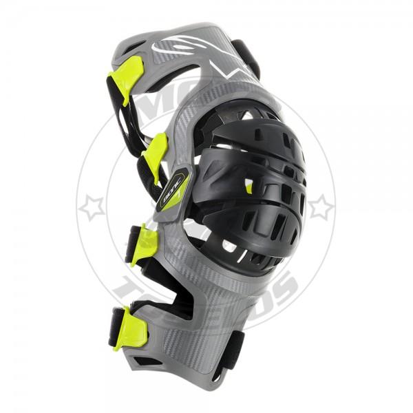 Επιγονατίδες Alpinestars Bionic 7 Χρώμα Γκρι/Λαχανί Μέγεθος Large