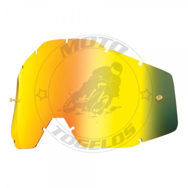 Ανταλλακτικό Lens Για Μάσκα The Racecraft/The Accuri Χρώμα Χρυσό Ιρίδιο 100%