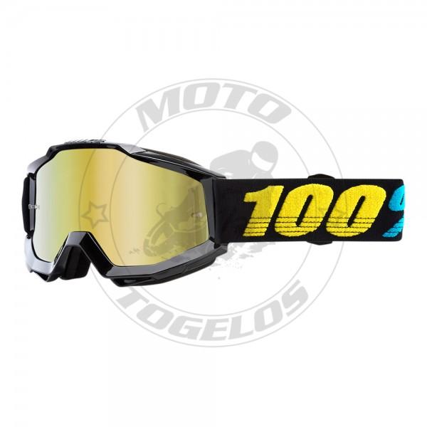 Γυαλιά The Accuri Χρώμα Μαύρο με Μαύρο/Κίτρινο Λάστιχο 100%