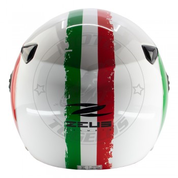 Κράνος Jet Zeus 210B Χρώμα Σημαία Ιταλίας