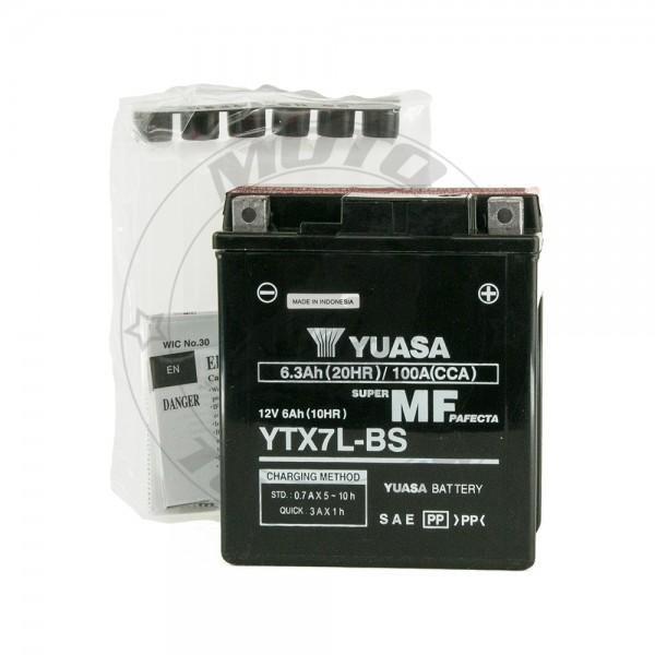 Μπαταρία YTX7L-BS Yuasa 12v 6Ah Μαύρο Κουτί
