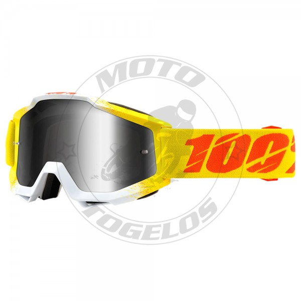 Γυαλιά The Accuri Χρώμα Κίτρινο/Λευκό με Κίτρινο/Πορτοκαλι Λάστιχο 100%