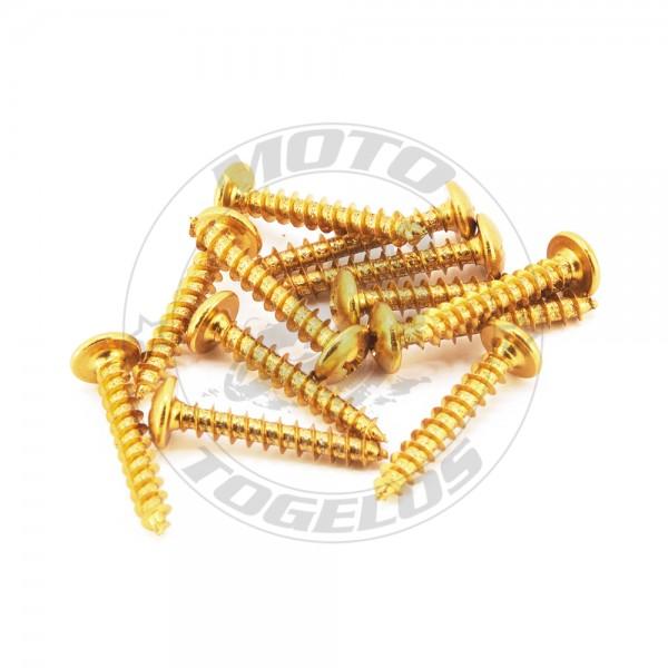 Σετ Λαμαρινόβιδες 5x30mm Vicma Χρώμα Χρυσό 12τμχ