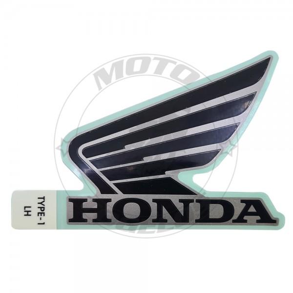 Αυτοκόλλητο Honda Logo Φτερό 85mm CB500X Αριστερό Γνήσιο Honda 86202-MKP-J80ZB