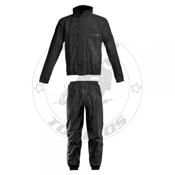 Αδιάβροχο Σετ Acerbis Rain Suit Logo 16428.090 Χρώμα Μαύρο