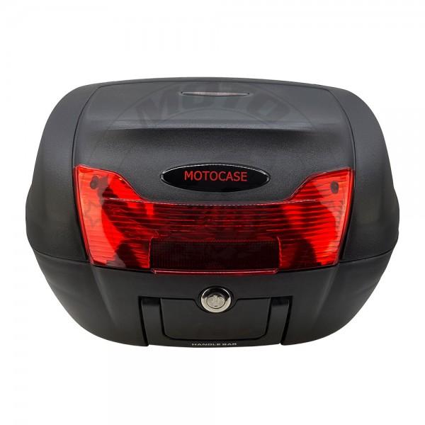 Βαλίτσα MC 60 40Lt Motocase Μαύρη με Κόκκινο Κρύσταλλο