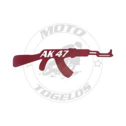 Αυτοκόλλητο Όπλο AK-47 Red